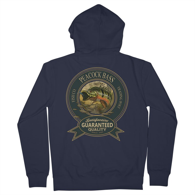 Peacock Bass Men's French Terry Zip-Up Hoody by psweetsdesign's Artist Shop