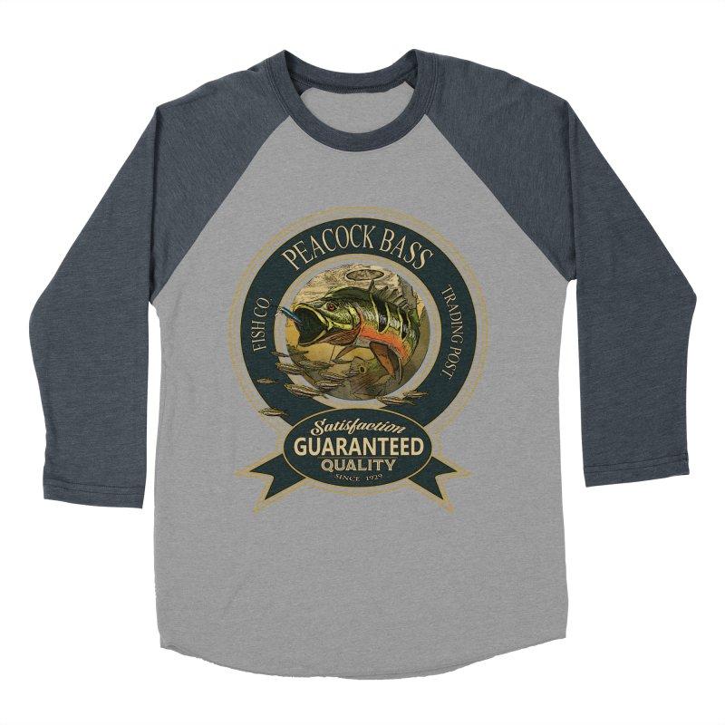 Peacock Bass Men's Baseball Triblend T-Shirt by psweetsdesign's Artist Shop