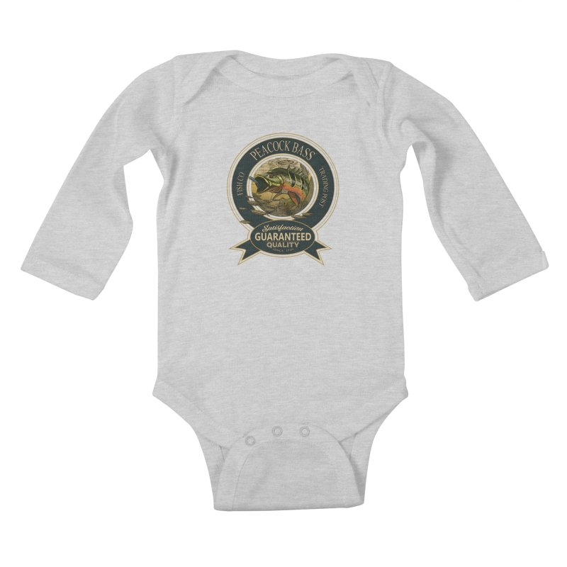 Peacock Bass Kids Baby Longsleeve Bodysuit by psweetsdesign's Artist Shop