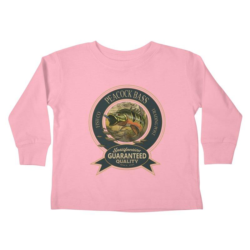 Peacock Bass Kids Toddler Longsleeve T-Shirt by psweetsdesign's Artist Shop
