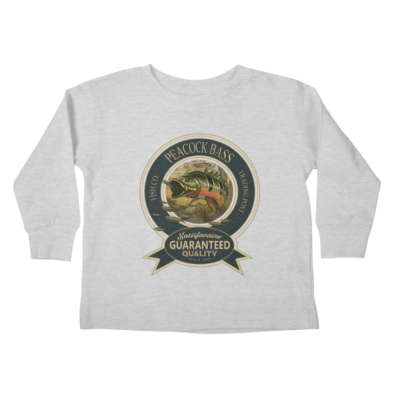 Peacock Bass Kids Toddler Longsleeve T-Shirt by psweetsdesign's Artist Shop