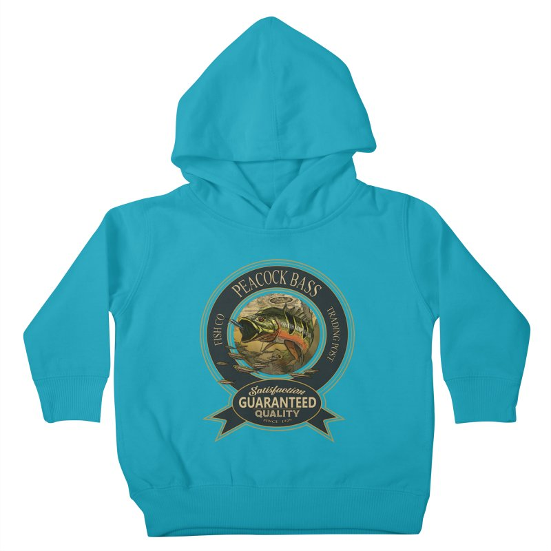 Peacock Bass Kids Toddler Pullover Hoody by psweetsdesign's Artist Shop