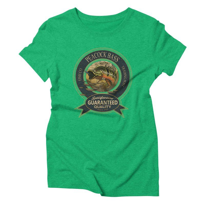 Peacock Bass Women's Triblend T-Shirt by psweetsdesign's Artist Shop