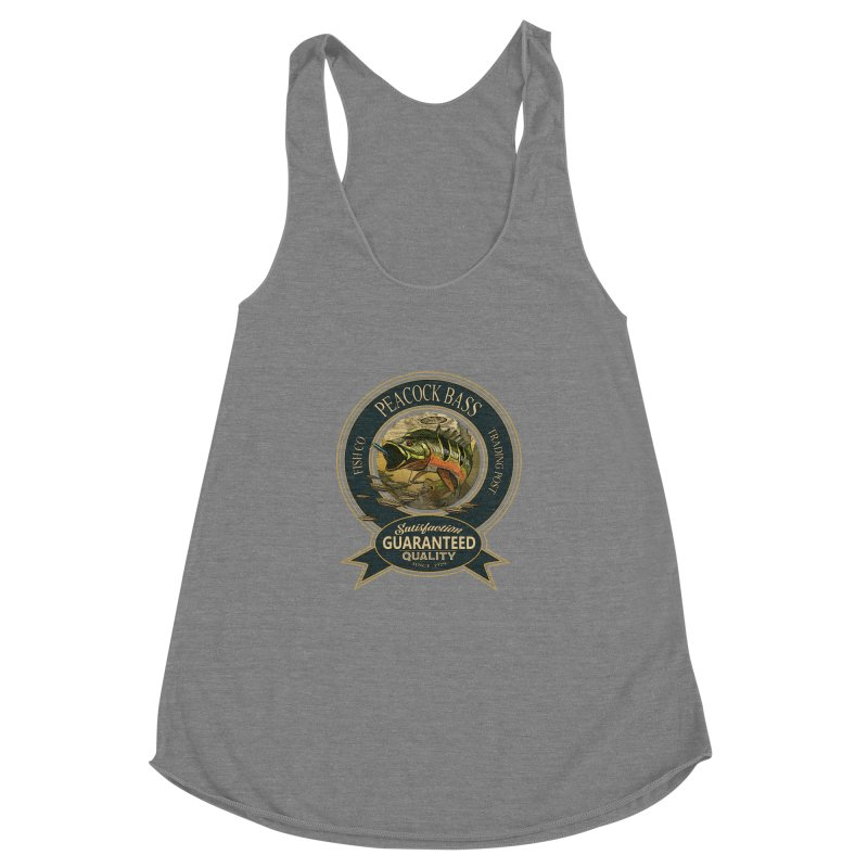 Peacock Bass Women's Racerback Triblend Tank by psweetsdesign's Artist Shop