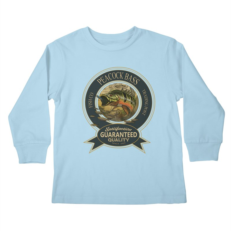 Peacock Bass Kids Longsleeve T-Shirt by psweetsdesign's Artist Shop