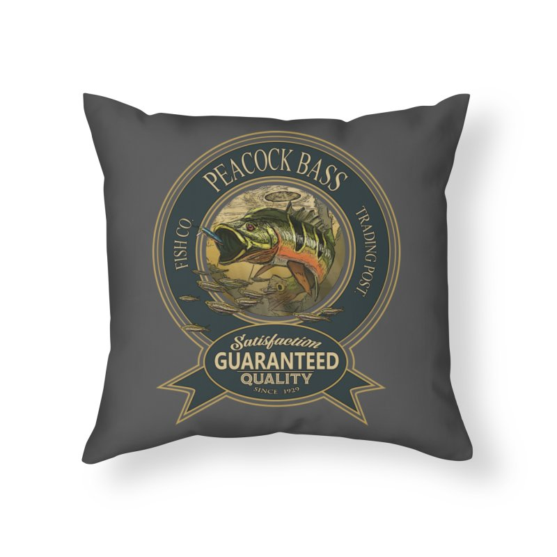 Peacock Bass Home Throw Pillow by psweetsdesign's Artist Shop
