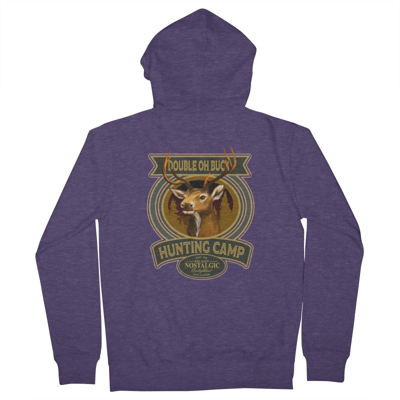 Double Oh Buck Men's Zip-Up Hoody by psweetsdesign's Artist Shop