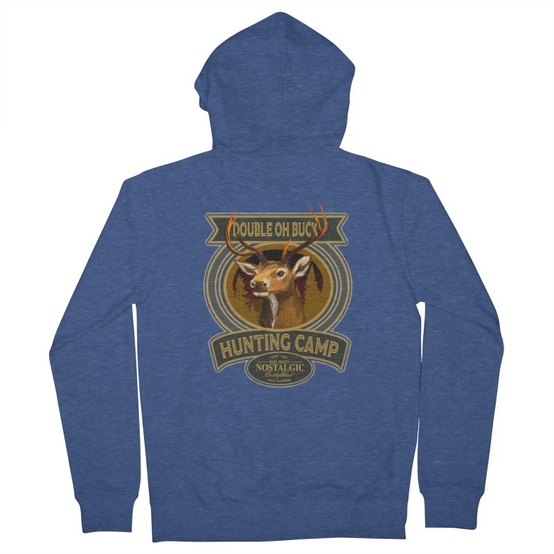 Double Oh Buck Men's French Terry Zip-Up Hoody by psweetsdesign's Artist Shop