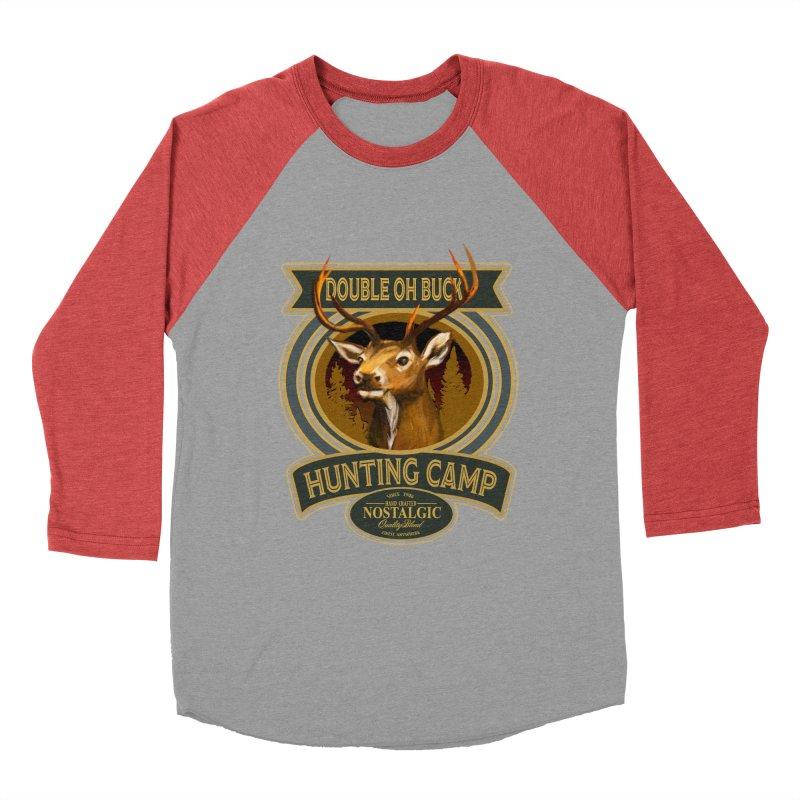 Double Oh Buck Men's Baseball Triblend Longsleeve T-Shirt by psweetsdesign's Artist Shop