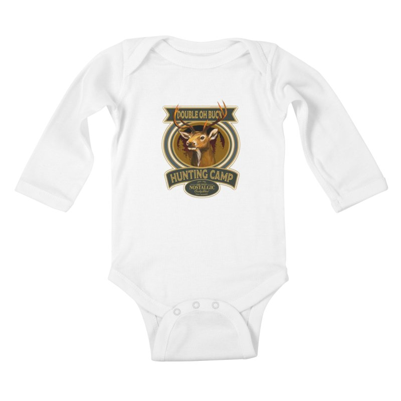 Double Oh Buck Kids Baby Longsleeve Bodysuit by psweetsdesign's Artist Shop