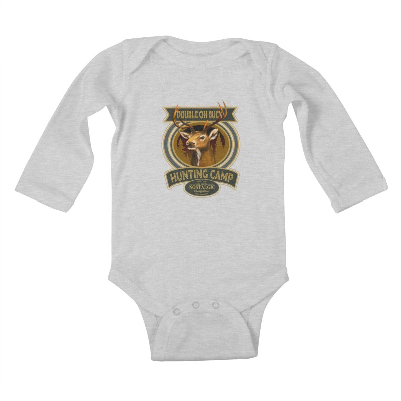 Double Oh Buck Kids Baby Longsleeve Bodysuit by psweetsdesign's Artist Shop