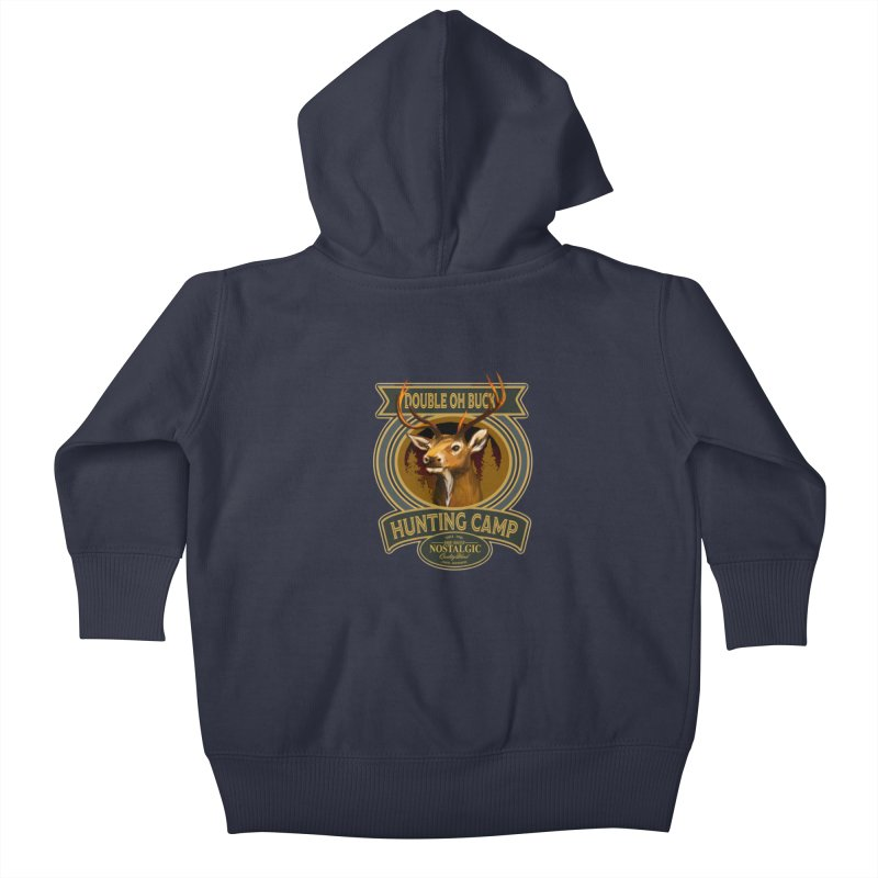 Double Oh Buck Kids Baby Zip-Up Hoody by psweetsdesign's Artist Shop