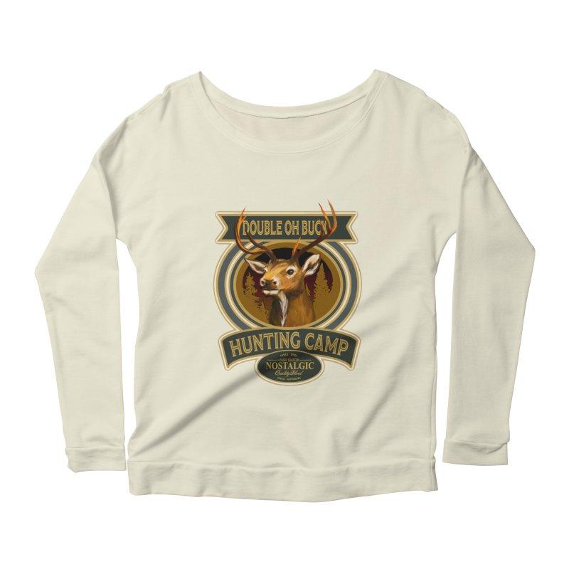 Double Oh Buck Women's Scoop Neck Longsleeve T-Shirt by psweetsdesign's Artist Shop