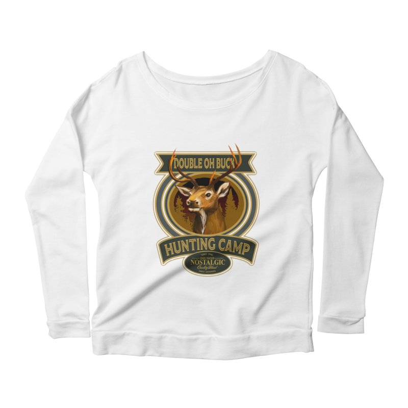 Double Oh Buck Women's Longsleeve Scoopneck  by psweetsdesign's Artist Shop