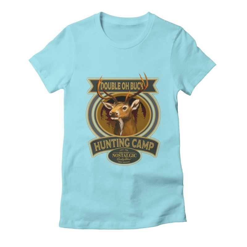 Double Oh Buck Women's Fitted T-Shirt by psweetsdesign's Artist Shop