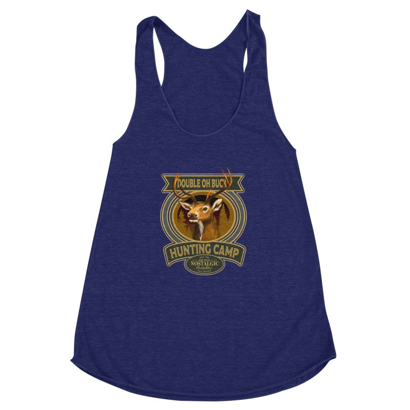 Double Oh Buck Women's Racerback Triblend Tank by psweetsdesign's Artist Shop