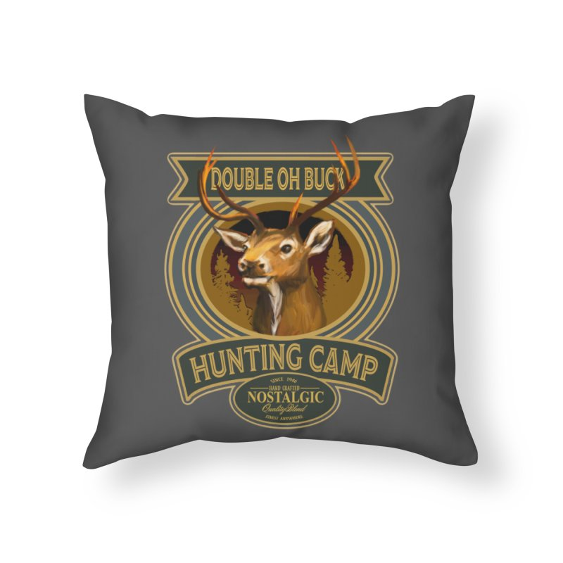 Double Oh Buck Home Throw Pillow by psweetsdesign's Artist Shop