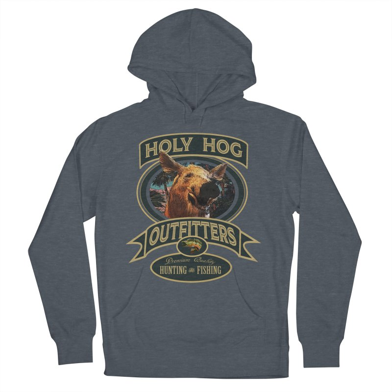Holy Hog Men's French Terry Pullover Hoody by psweetsdesign's Artist Shop