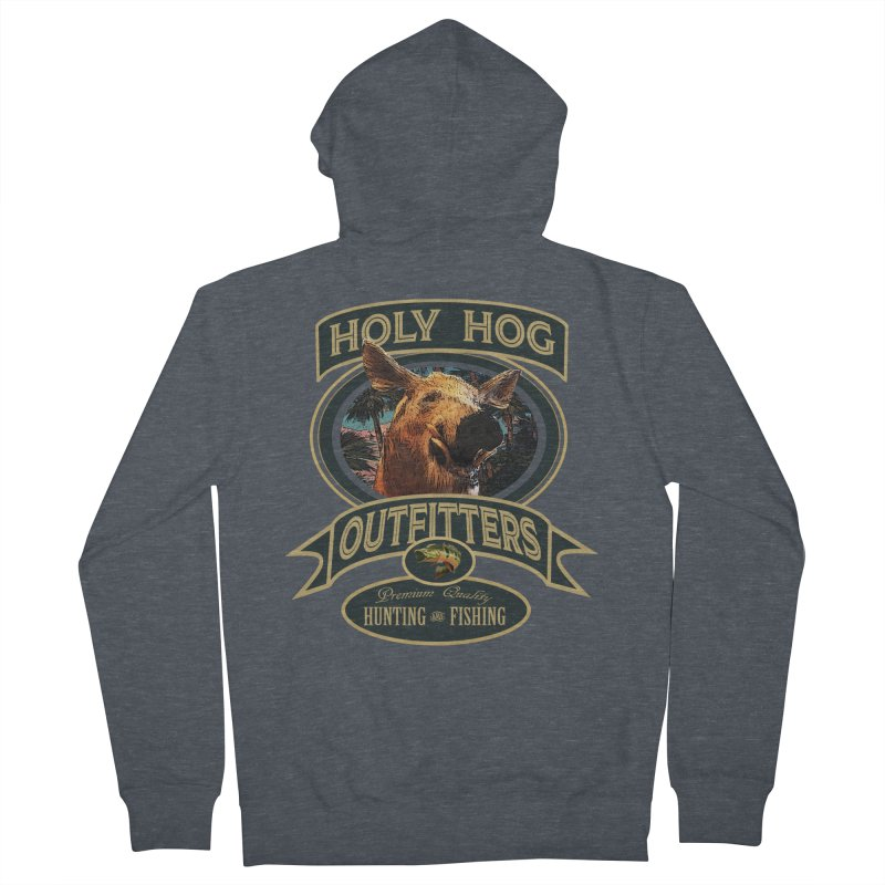 Holy Hog Men's Zip-Up Hoody by psweetsdesign's Artist Shop