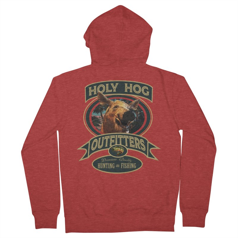 Holy Hog Men's French Terry Zip-Up Hoody by psweetsdesign's Artist Shop