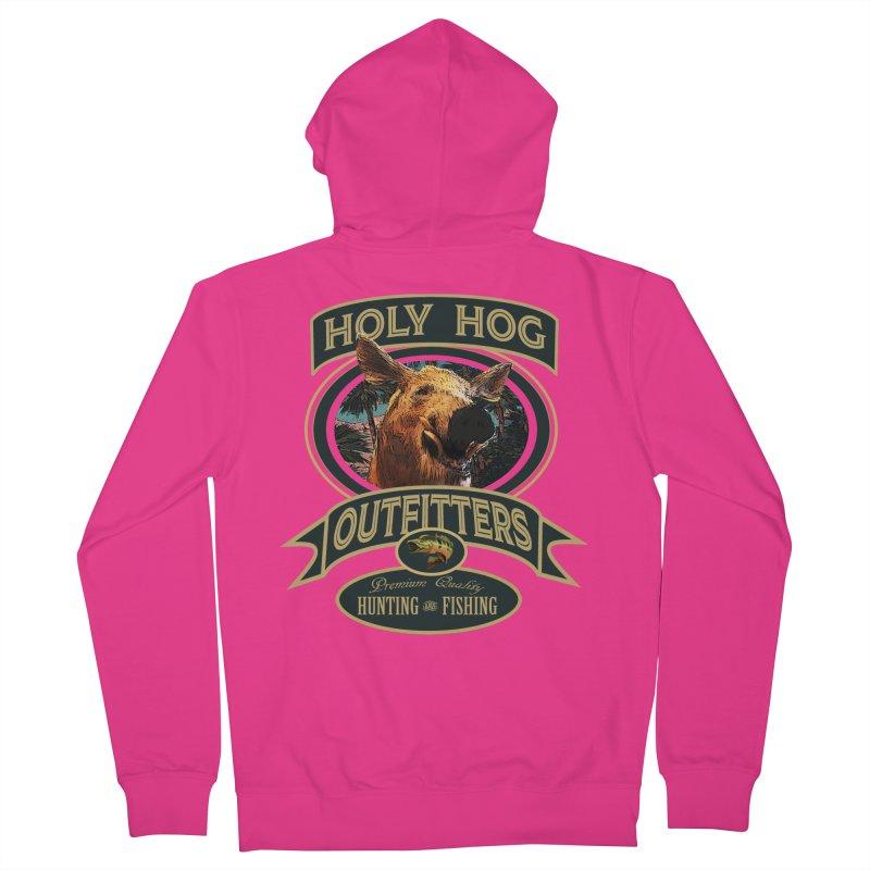 Holy Hog Men's Zip-Up Hoody by psweetsdesign's Artist Shop