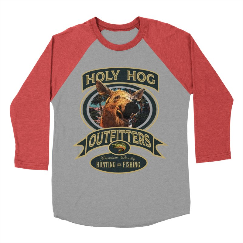 Holy Hog Men's Baseball Triblend T-Shirt by psweetsdesign's Artist Shop