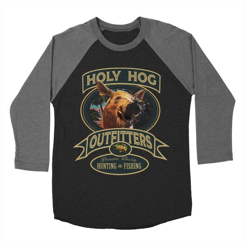 Holy Hog Men's Baseball Triblend Longsleeve T-Shirt by psweetsdesign's Artist Shop