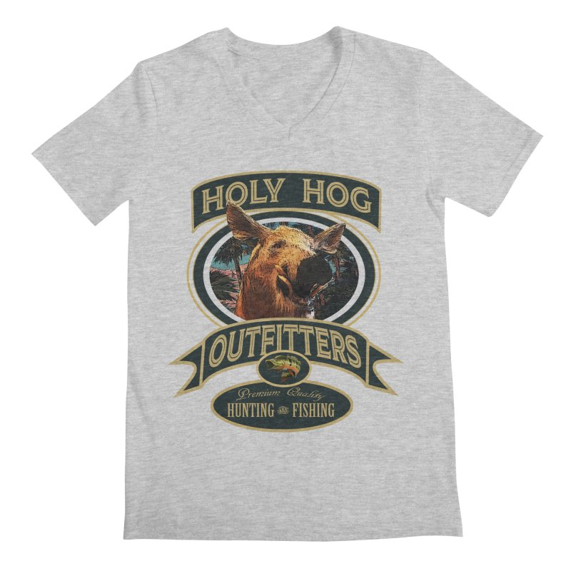 Holy Hog Men's V-Neck by psweetsdesign's Artist Shop