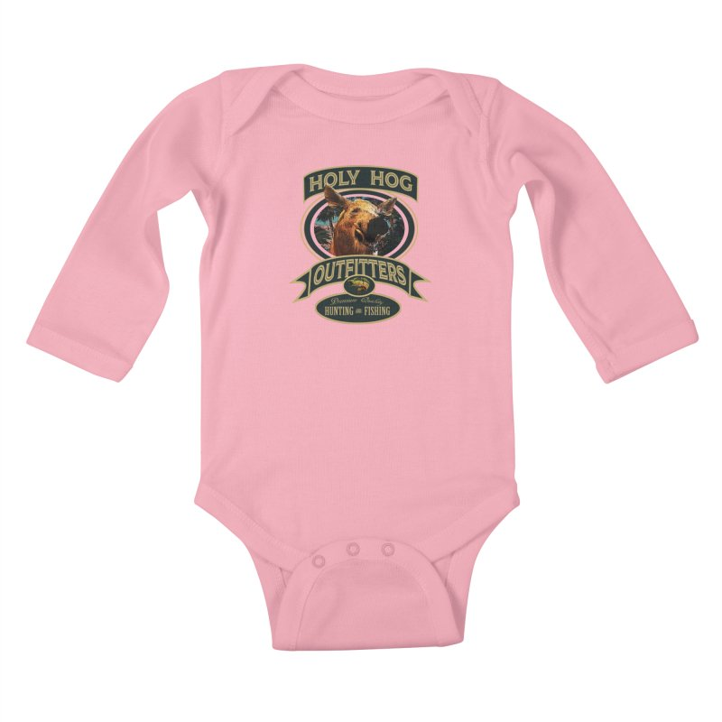 Holy Hog Kids Baby Longsleeve Bodysuit by psweetsdesign's Artist Shop