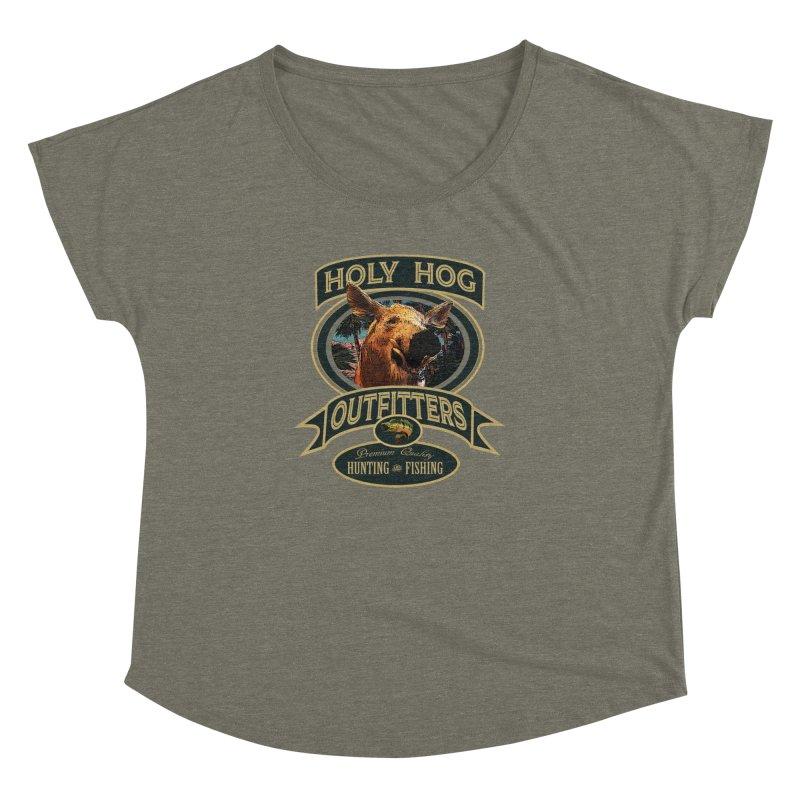 Holy Hog Women's Dolman Scoop Neck by psweetsdesign's Artist Shop