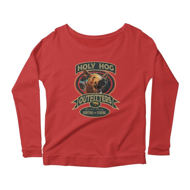 Holy Hog Women's Scoop Neck Longsleeve T-Shirt by psweetsdesign's Artist Shop