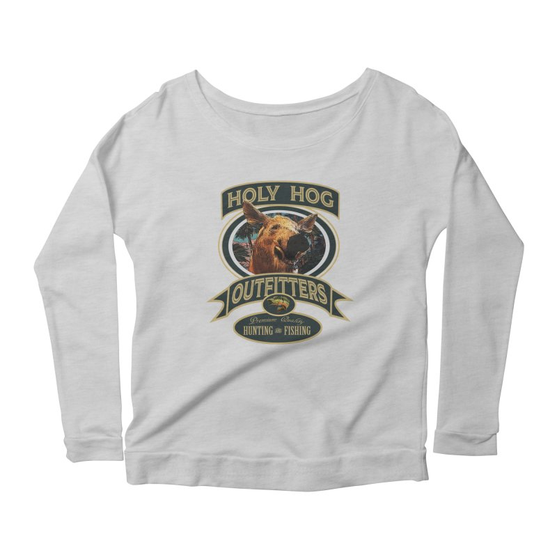 Holy Hog Women's Longsleeve Scoopneck  by psweetsdesign's Artist Shop