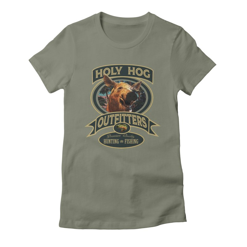 Holy Hog Women's Fitted T-Shirt by psweetsdesign's Artist Shop