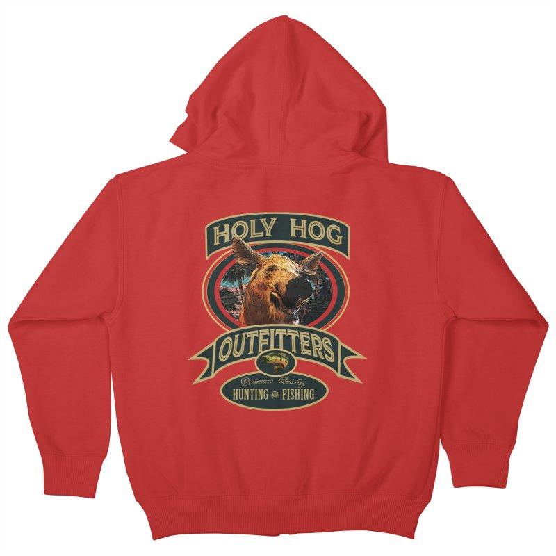 Holy Hog Kids Zip-Up Hoody by psweetsdesign's Artist Shop