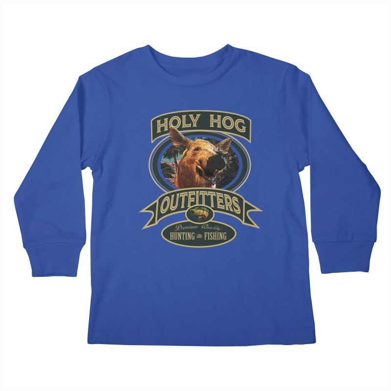 Holy Hog Kids Longsleeve T-Shirt by psweetsdesign's Artist Shop