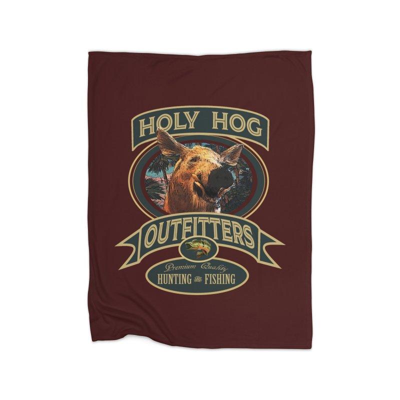 Holy Hog Home Fleece Blanket Blanket by psweetsdesign's Artist Shop