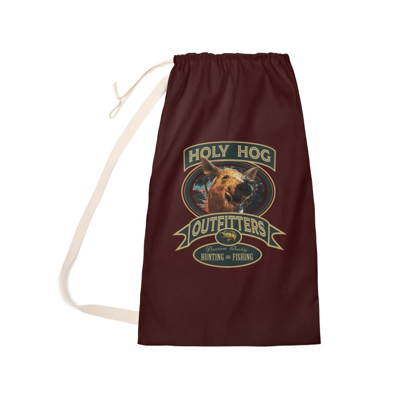 Holy Hog Accessories Laundry Bag Bag by psweetsdesign's Artist Shop