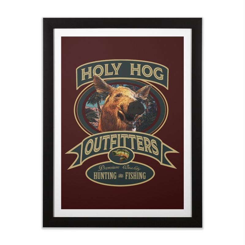 Holy Hog Home Framed Fine Art Print by psweetsdesign's Artist Shop