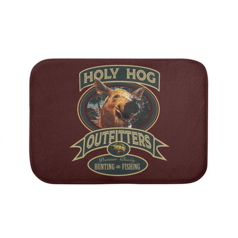 Holy Hog Home Bath Mat by psweetsdesign's Artist Shop
