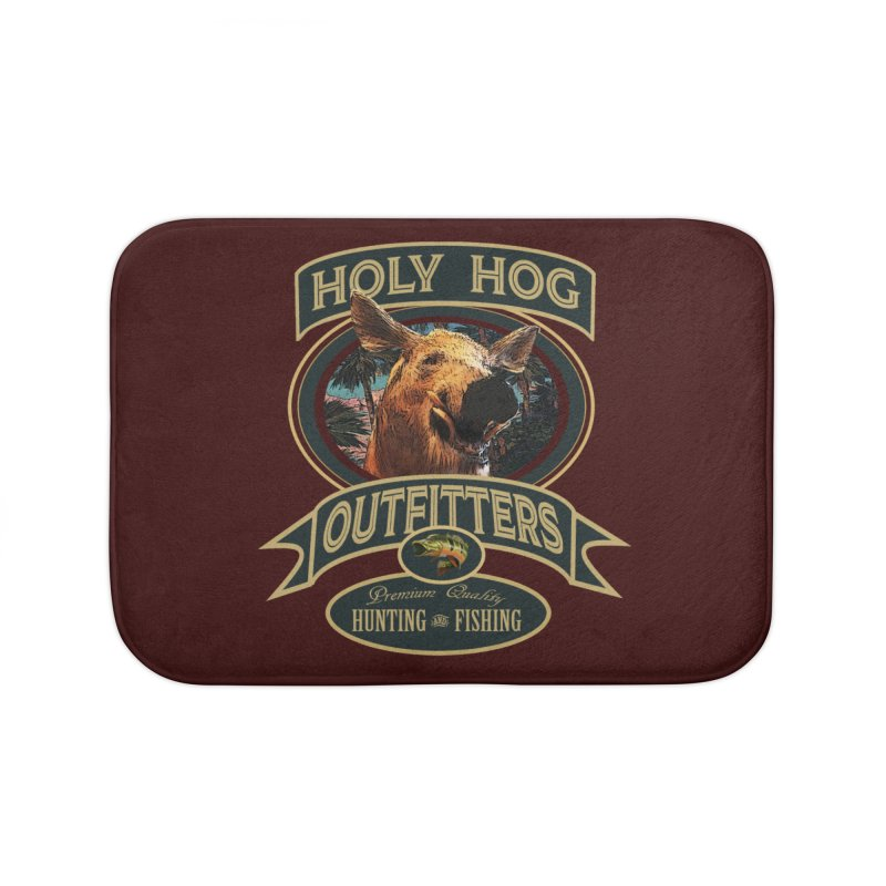 Holy Hog Home Bath Mat by psweetsdesign's Artist Shop