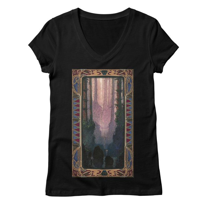 Sleep In TheThe Forest Women's V-Neck by psweetsdesign's Artist Shop