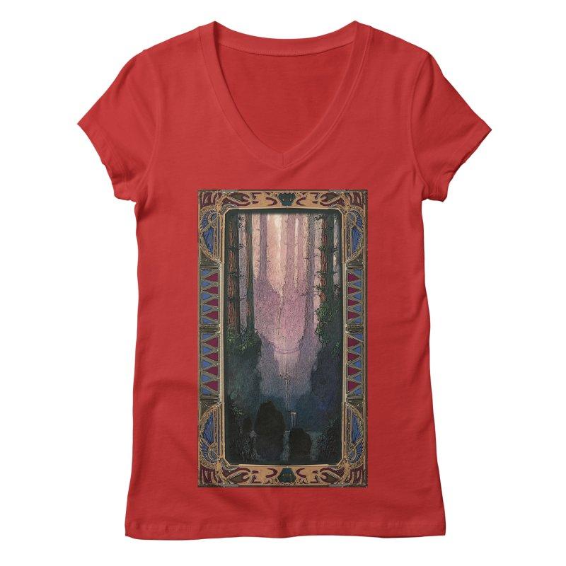 Sleep In TheThe Forest Women's Regular V-Neck by psweetsdesign's Artist Shop