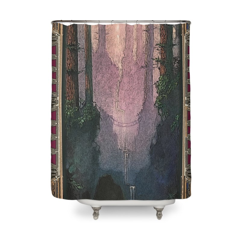 Sleep In TheThe Forest Home Shower Curtain by psweetsdesign's Artist Shop