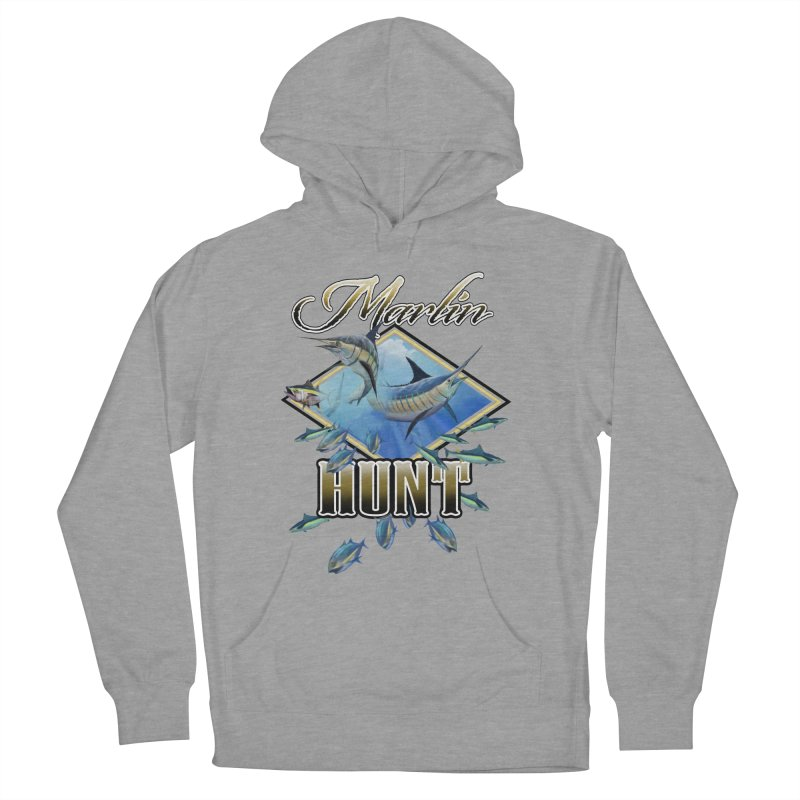 Marlin Hunt Women's French Terry Pullover Hoody by psweetsdesign's Artist Shop