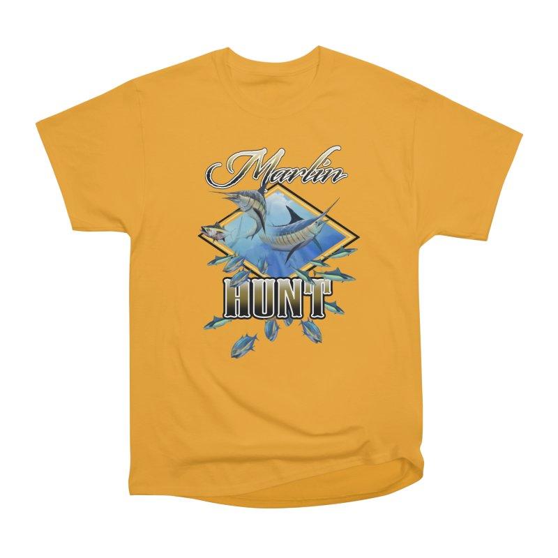 Marlin Hunt Men's Heavyweight T-Shirt by psweetsdesign's Artist Shop