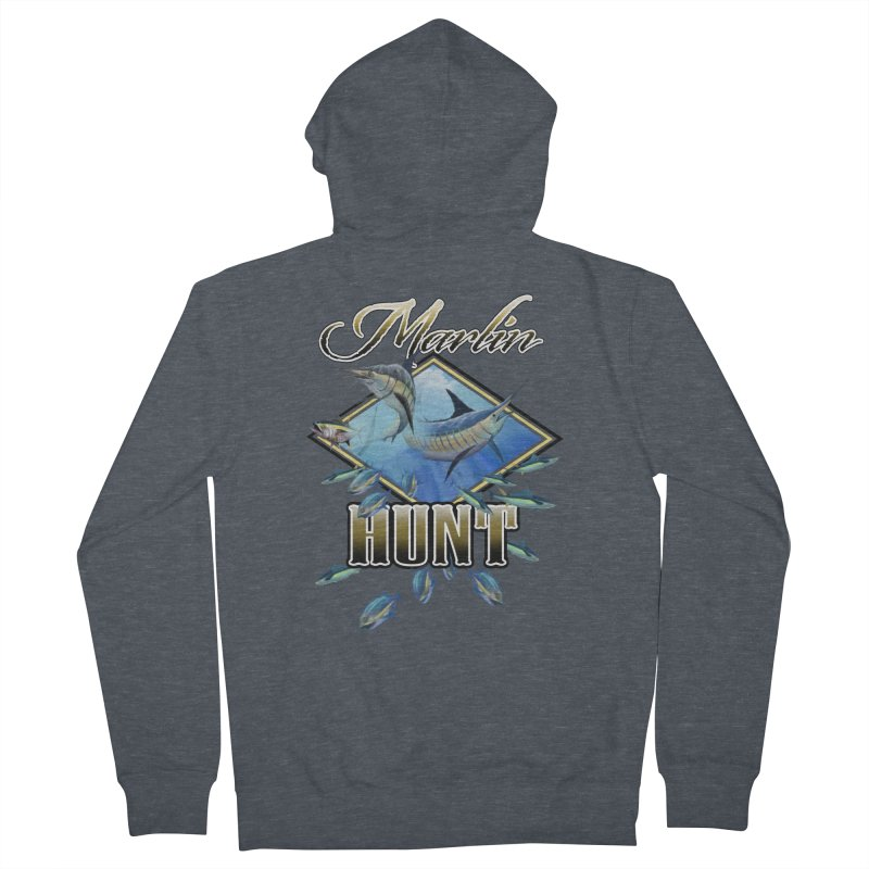 Marlin Hunt Men's Zip-Up Hoody by psweetsdesign's Artist Shop