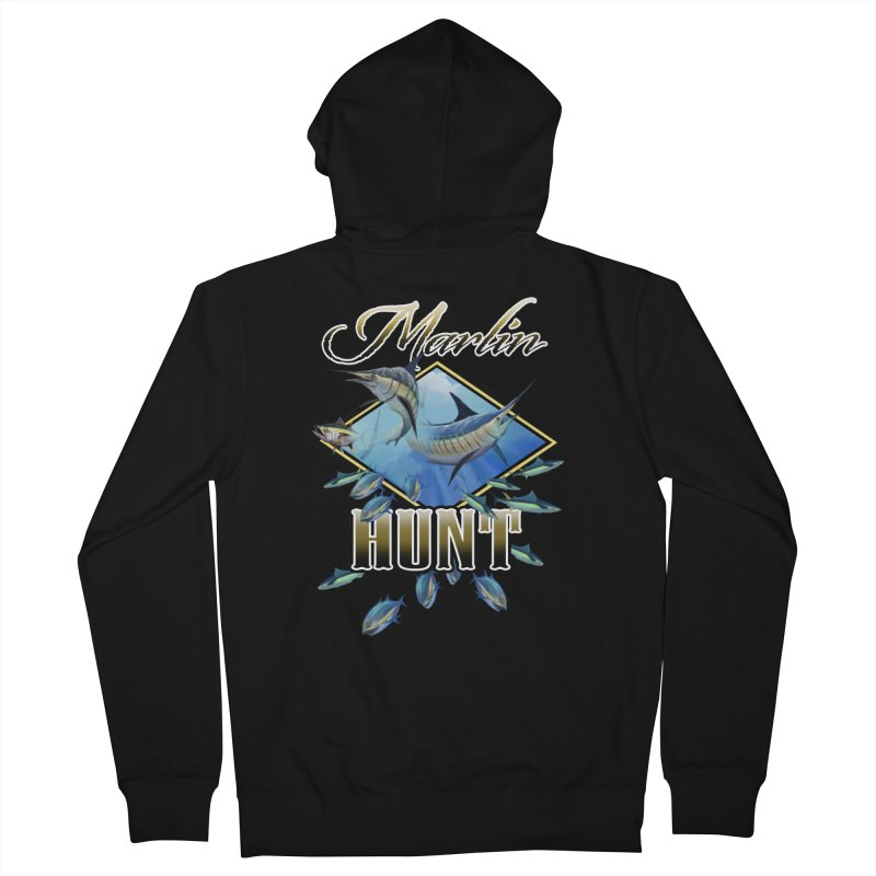Marlin Hunt Men's French Terry Zip-Up Hoody by psweetsdesign's Artist Shop