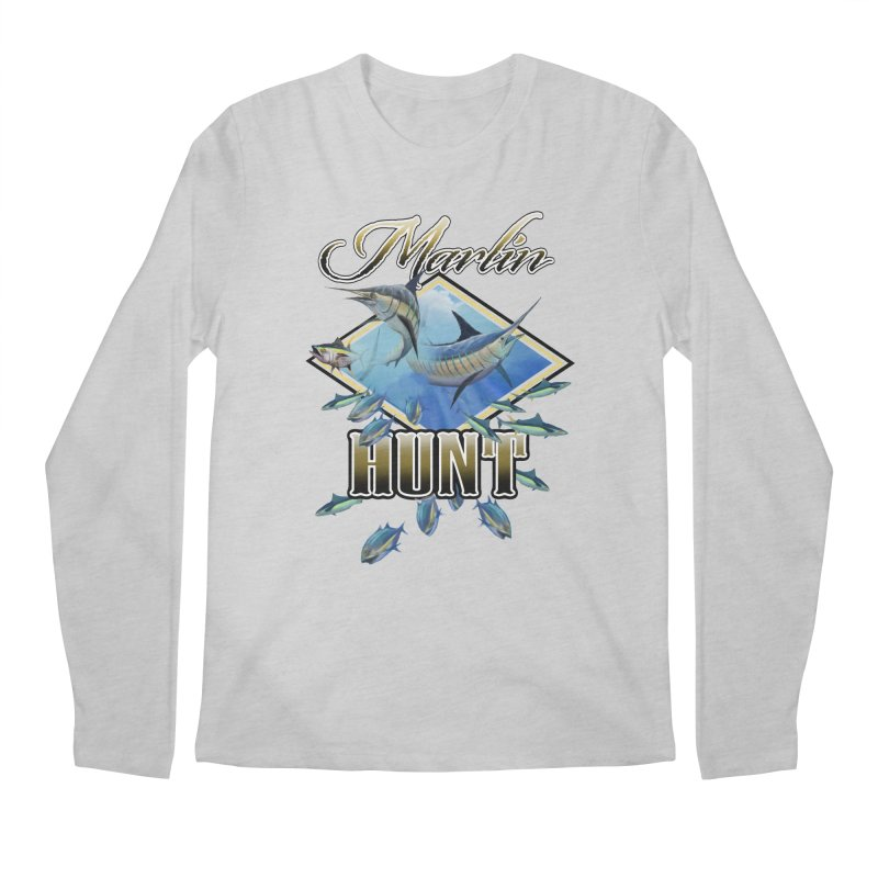 Marlin Hunt Men's Regular Longsleeve T-Shirt by psweetsdesign's Artist Shop