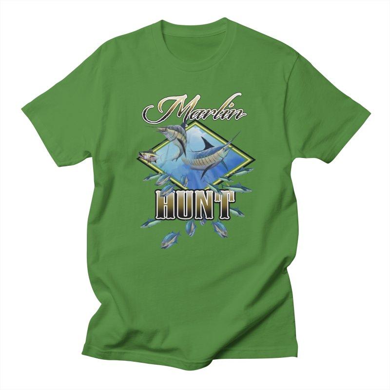 Marlin Hunt Women's Regular Unisex T-Shirt by psweetsdesign's Artist Shop