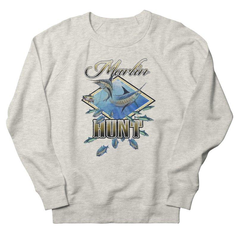 Marlin Hunt Women's French Terry Sweatshirt by psweetsdesign's Artist Shop